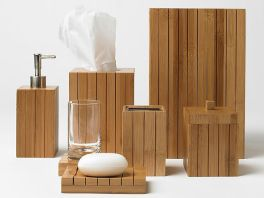 Set accesorii baie bambus