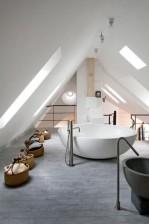 Baie mansarda design modern, elegant