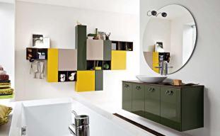 fantastic-white-green-yellow-bathroom