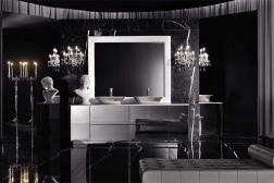 Baie luxoasa fundal negru elegant