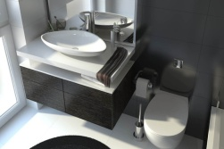 Baie moderna obiecte sanitare ovale
