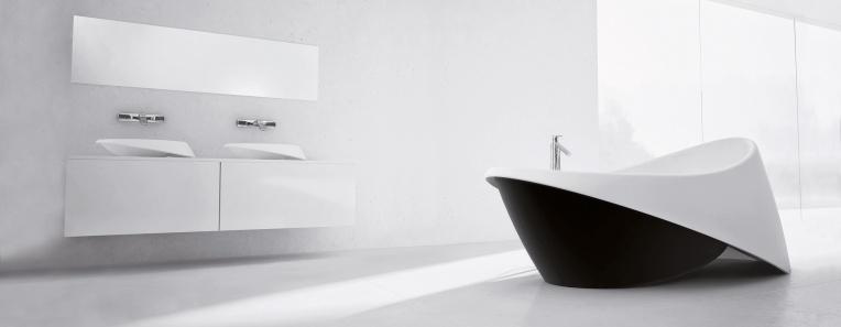cada freestanding ovala akb negru marmorin goccia