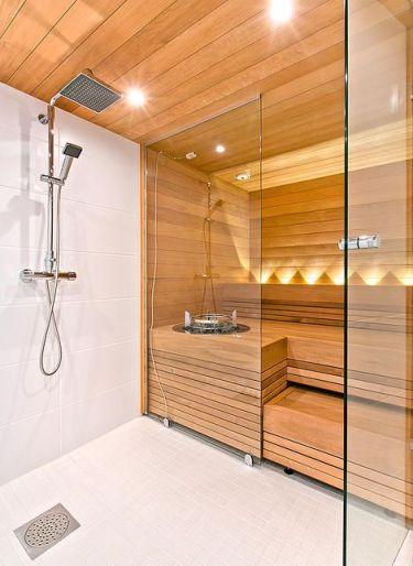 spa in baie dus pereti lemn