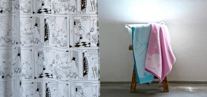 Perdea și prosoape baie colectia Moomin COMIC