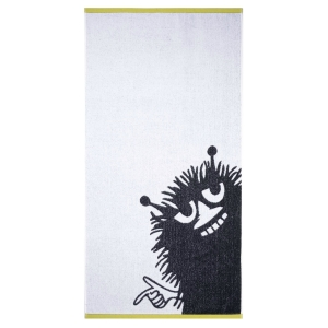 Prosop-de-baie-MOOMIN-alb-negru-70x140