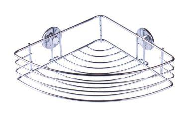 Etajera cromata simpla pentru baie cu prindere fara gauri - cu ventuze
