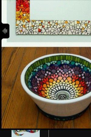 lavoar-baie-placat-mozaic-multicolor