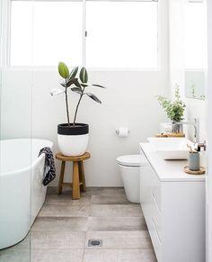 Baie design nordic plante verzi