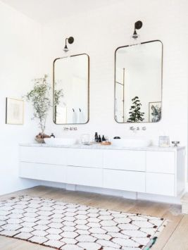 Baie matrimoniala design minimalist scandinav alb negru