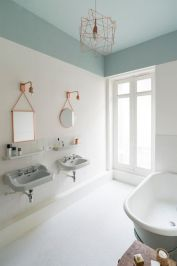 Corpuri iluminat cupru design geometric scandinav baie