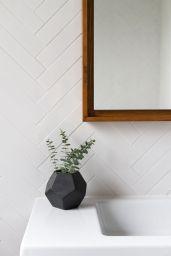 Planta ghiveci design geometric baie