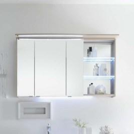 Dulap baie suspendat compact cu oglinda