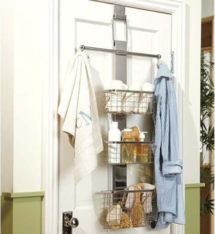 Organizator cu cuier modern pentru depozitare usa baie